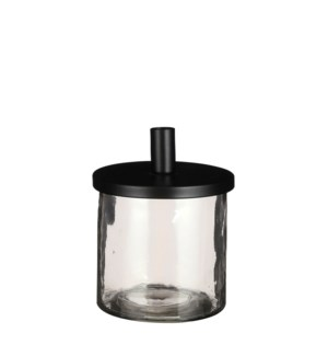 "Candleholder black - 5x6.25"""