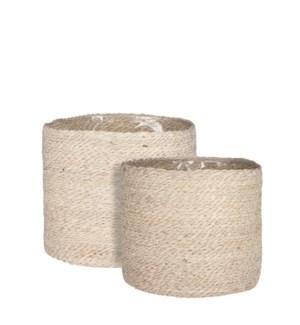 "Atlantic basket cream set of 2 - 11.75x10.25"""