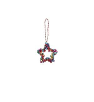 """Ornament star multicolour - 3.25"""""""