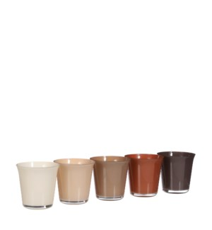 Troj pot glass 5 assorted PDQ - 5x5""