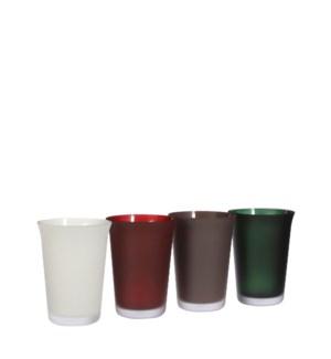 "Troj vase glass 4 assorted PDQ - 5.5x7.5"""