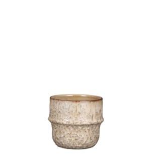 """Caleb pot round cream - 5.75x5"""""""
