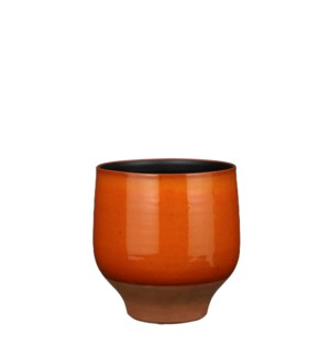Myron pot round orange - 9.5x9.5""