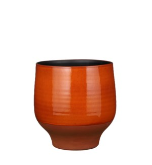 Myron pot round orange - 11.5x11.5""
