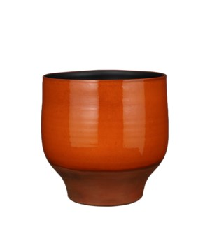 Myron pot round orange - 13x12.5""