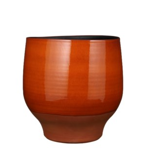 Myron pot round orange - 14.5x14.25""