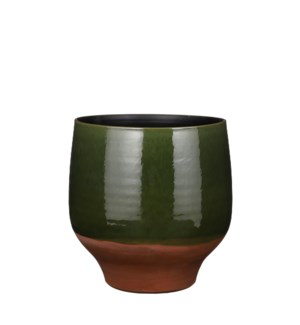 Myron pot round green - 11.5x11.5""