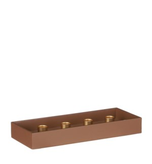 "Candleholder brown - 11.75x4.75x1.5"""