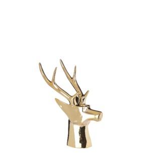 """Deer head gold - 8x4x8.25"""""""
