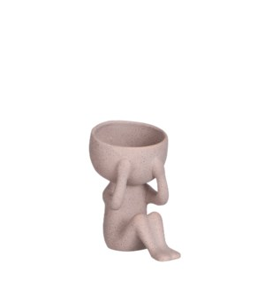 """Pot man brown - 7.25x4.75x6"""""""