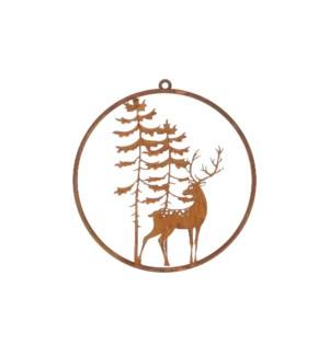 """Walldecoration deer rust - 11.75x12.5"""""""