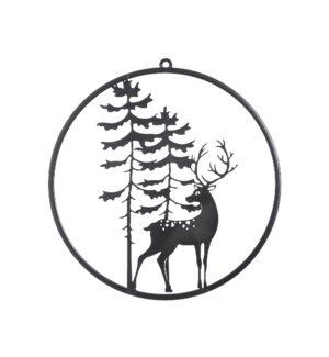 "Walldecoration deer black - 15x15.5"""