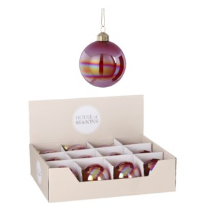 """Bauble glass red display - 3.25"""""""