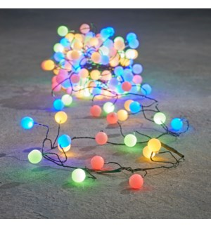 Outdoor Berry Cluster LED Wire P/I on timer 140L Multicolour  - 11.5'