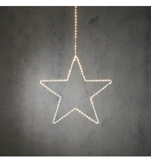"""Outdoor LED Hanging Star P/I on timer 140L Classic White - 43x15"""""""