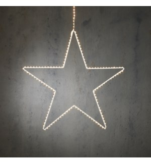 """Outdoor LED Hanging Star P/I on timer 180L Classic White - 50x23"""""""