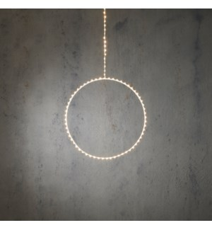 """Outdoor LED Hanging Circle P/I on timer 105L Classic White - 39x12"""""""