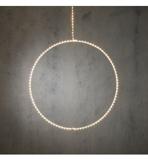 """Outdoor LED Hanging Circle P/I on timer 145L Classic White - 47x20"""""""