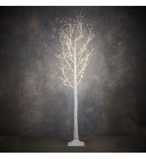 """Outdoor LED Birch Tree P/I on timer 750L White Classic White - 83x39"""""""