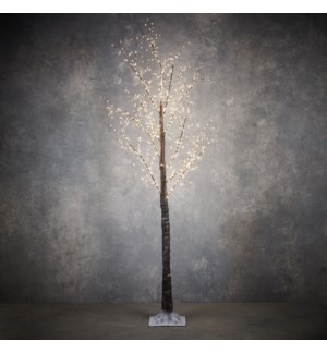 """Outdoor LED Tree P/I on timer 750L Brown Classic White - 83x39"""""""