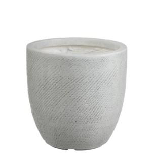 """Linea pot round off white - 17.25x17.25"""""""