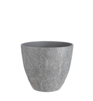 "Bravo pot round d. grey slate - 15x12.75"""