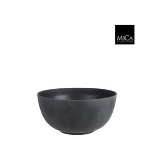 "Bravo bowl round anthracite - 21.75x10.25"""
