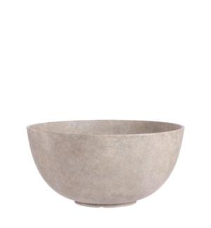 """Bravo bowl round beige - 13.75x6.75"""""""