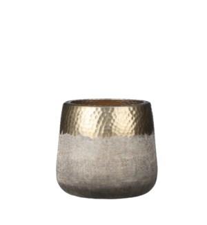 "Chai pot round gold - 8x7"""