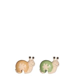 """Pot hanger snail green brown 2 assorted - 3.5x2x3"""""""