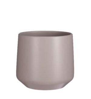 """Amber pot round taupe matt - 11x10.25"""""""