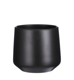 """Amber pot round d. grey matt - 11x10.25"""""""