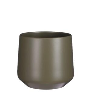 """Amber pot round green matt - 11x10.25"""""""