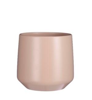 "Amber pot round l. pink matt - 11x10.25"""