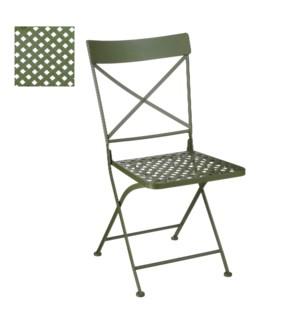 """Rowan chair d. green - 17.25x21.75x35"""""""
