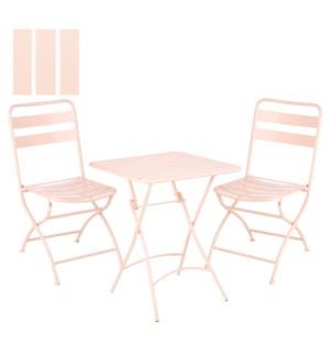 Evita bistro set l. pink 3 pieces -