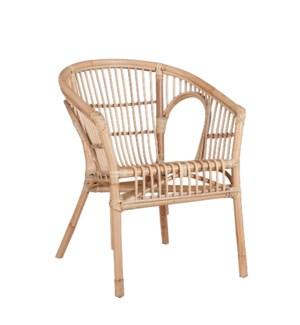 "Zambia chair l. brown - 23.25x22.75x30"""