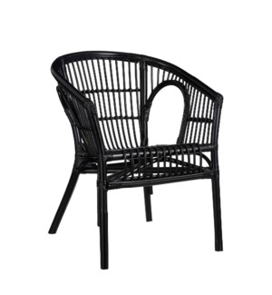"Zambia chair black - 23.25x22.75x30"""