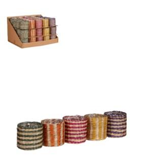 "Alexis pot round purple yellow green orange pink 5 assorted display 60 pieces - 4x3.5"""