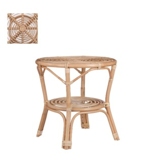 """Zambia side table l. brown - 21.75x21.75x22"""""""