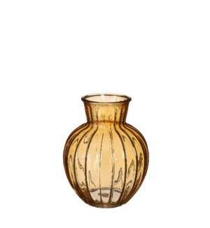 """Aivy vase glass yellow - 6.25x7.75"""""""