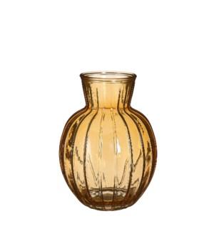 """Aivy vase glass yellow - 7x9.5"""""""