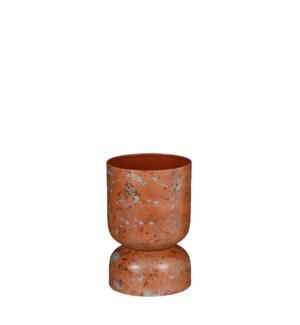 """Hailey pot round rust - 8x11.75"""""""