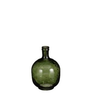 """Modena vase glass d. green - 6.25x9.5"""""""