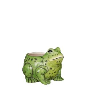 """Pot frog green - 7x8x6"""""""