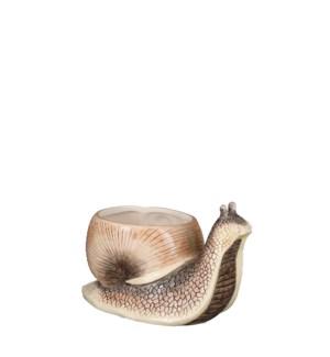 """Pot snail brown - 5.25x9.25x5.5"""""""