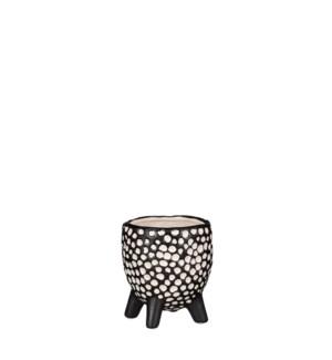 """Pot on foot black - 4x4.5"""""""