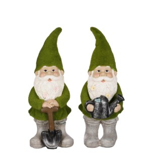 """Gnome green 2 assorted - 6.5x6x17"""""""