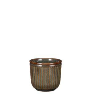 """Abel pot round green - 4.75x4.25"""""""