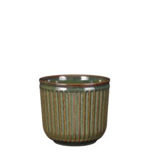 """Abel pot round green - 6.75x6"""""""